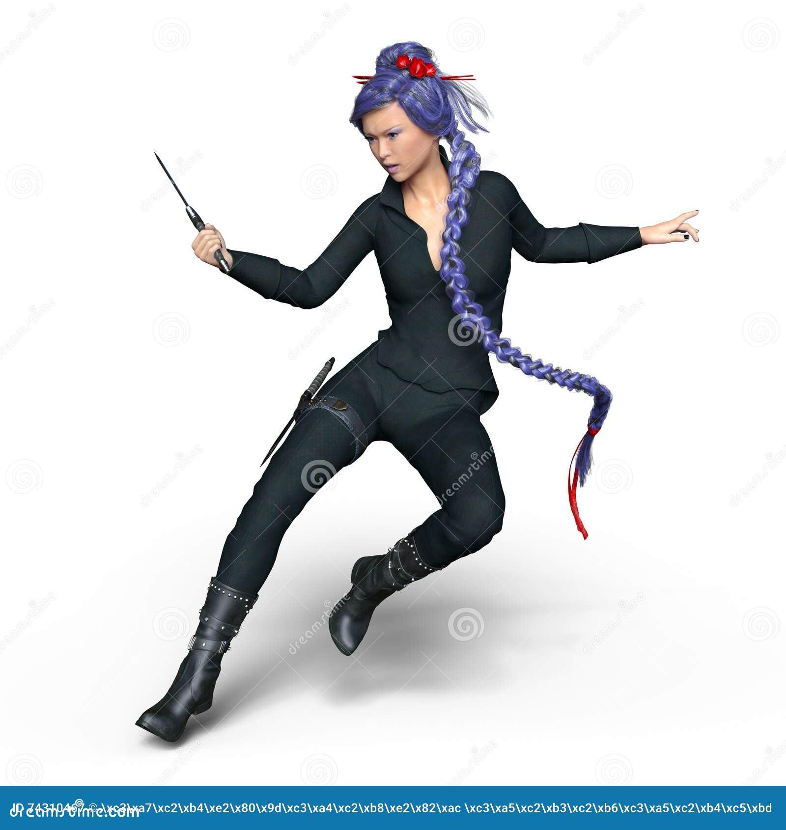 Female Ninja Stock Image Image Of Sword Warrior Weapon 74310467