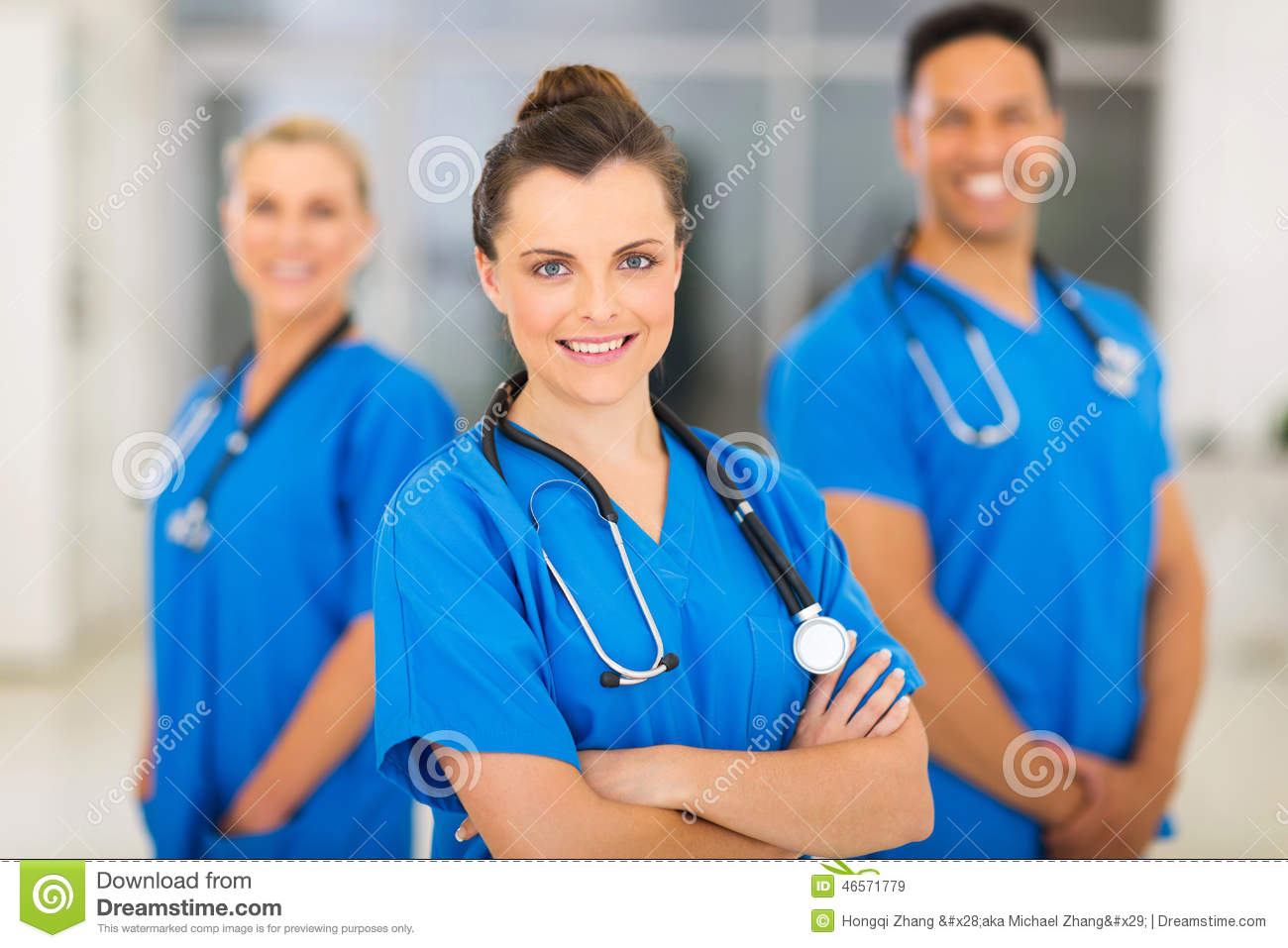 Female nurse colleagues