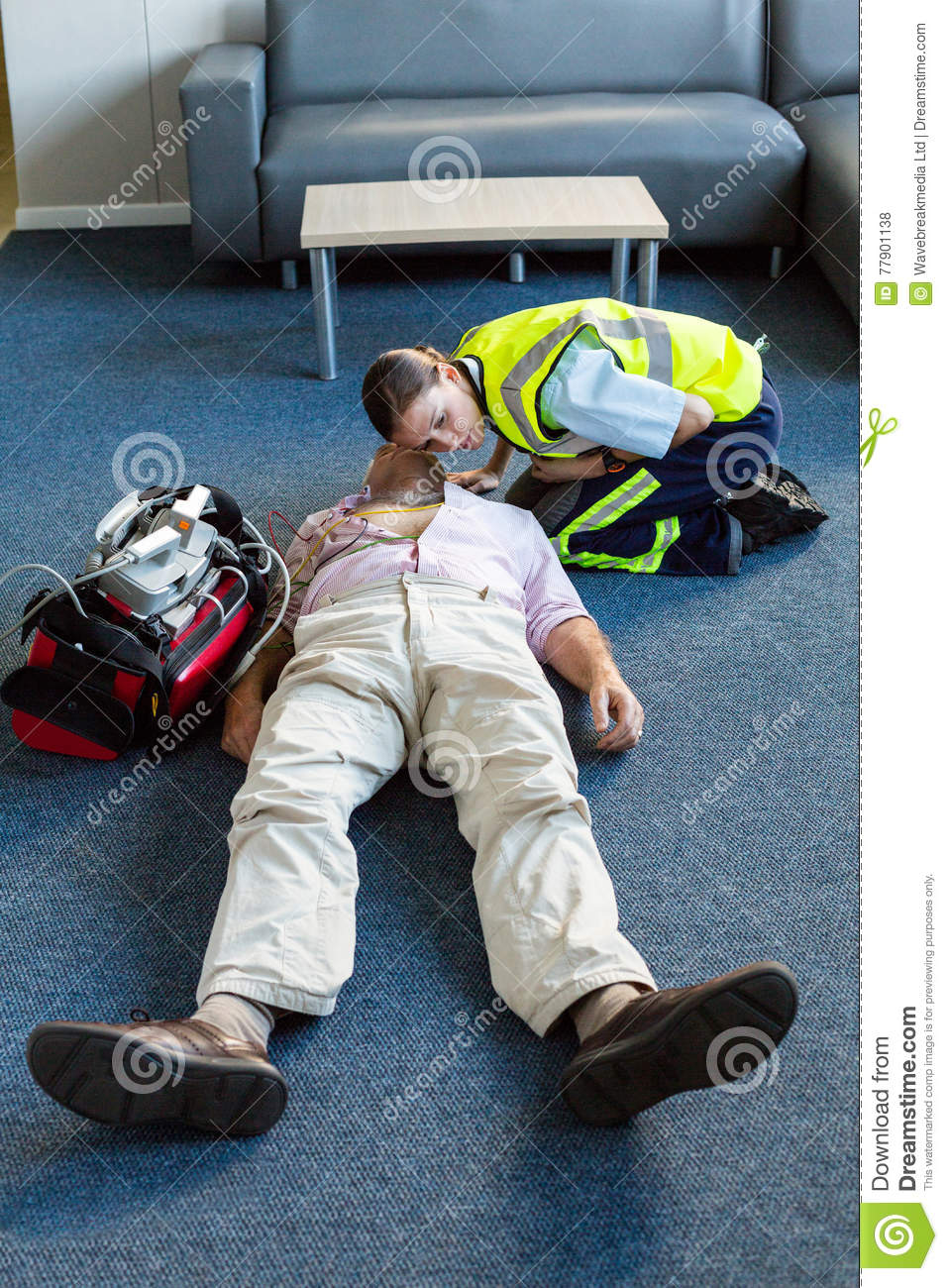 Download Female Paramedic During Cardiopulmonary Resuscitation Training Stock Photo - Image of doctor, heart: 77901138