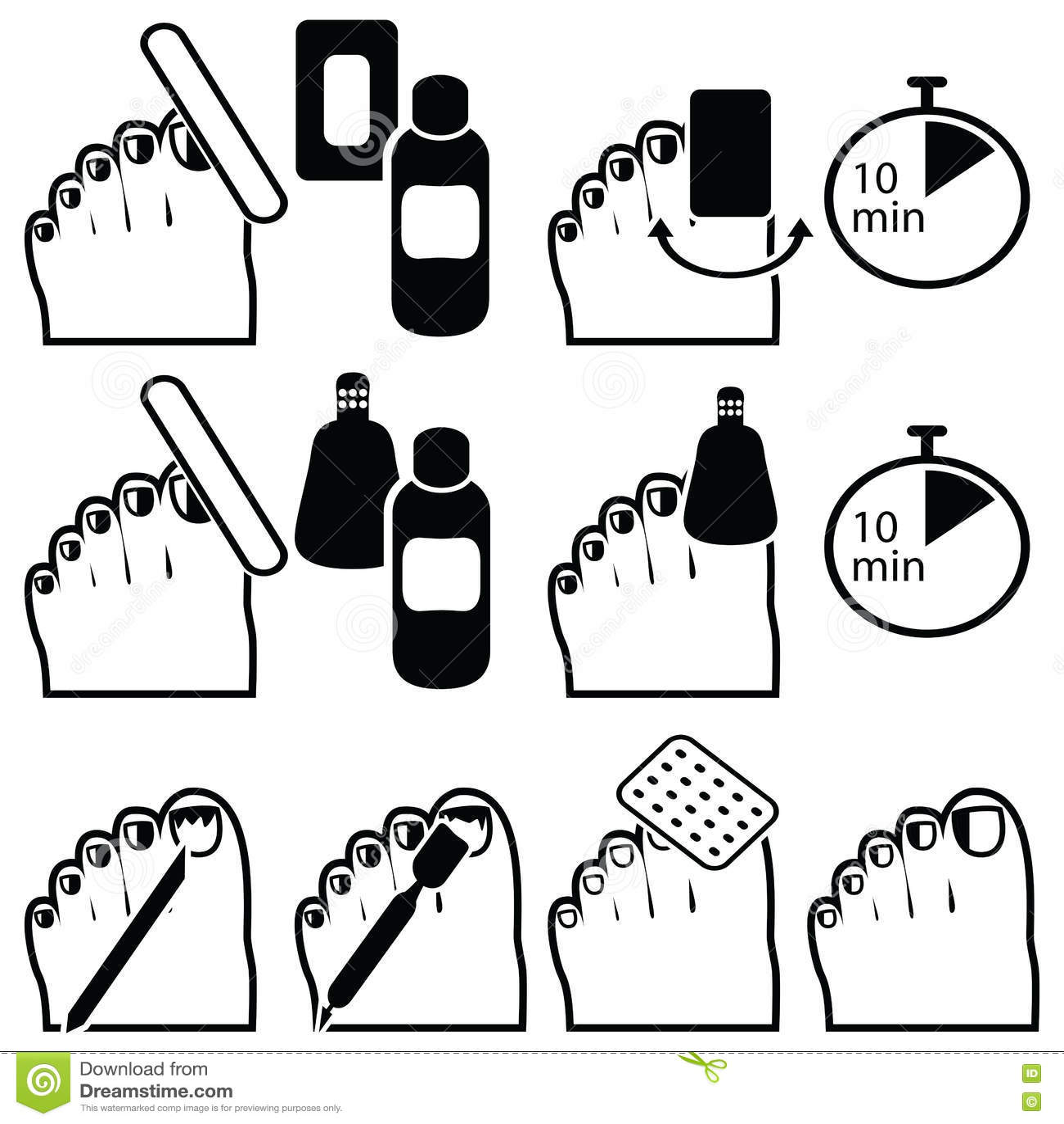 female manicure and gel hybrid titanium nails preparation