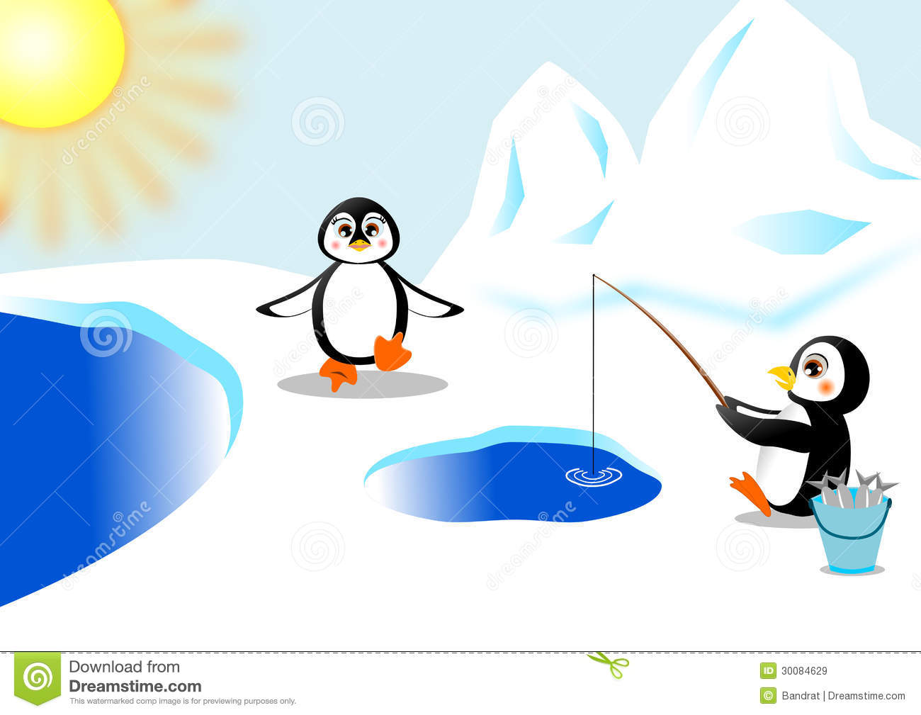 Penguin royalty free stock images image 30084629 for Penguin and fish