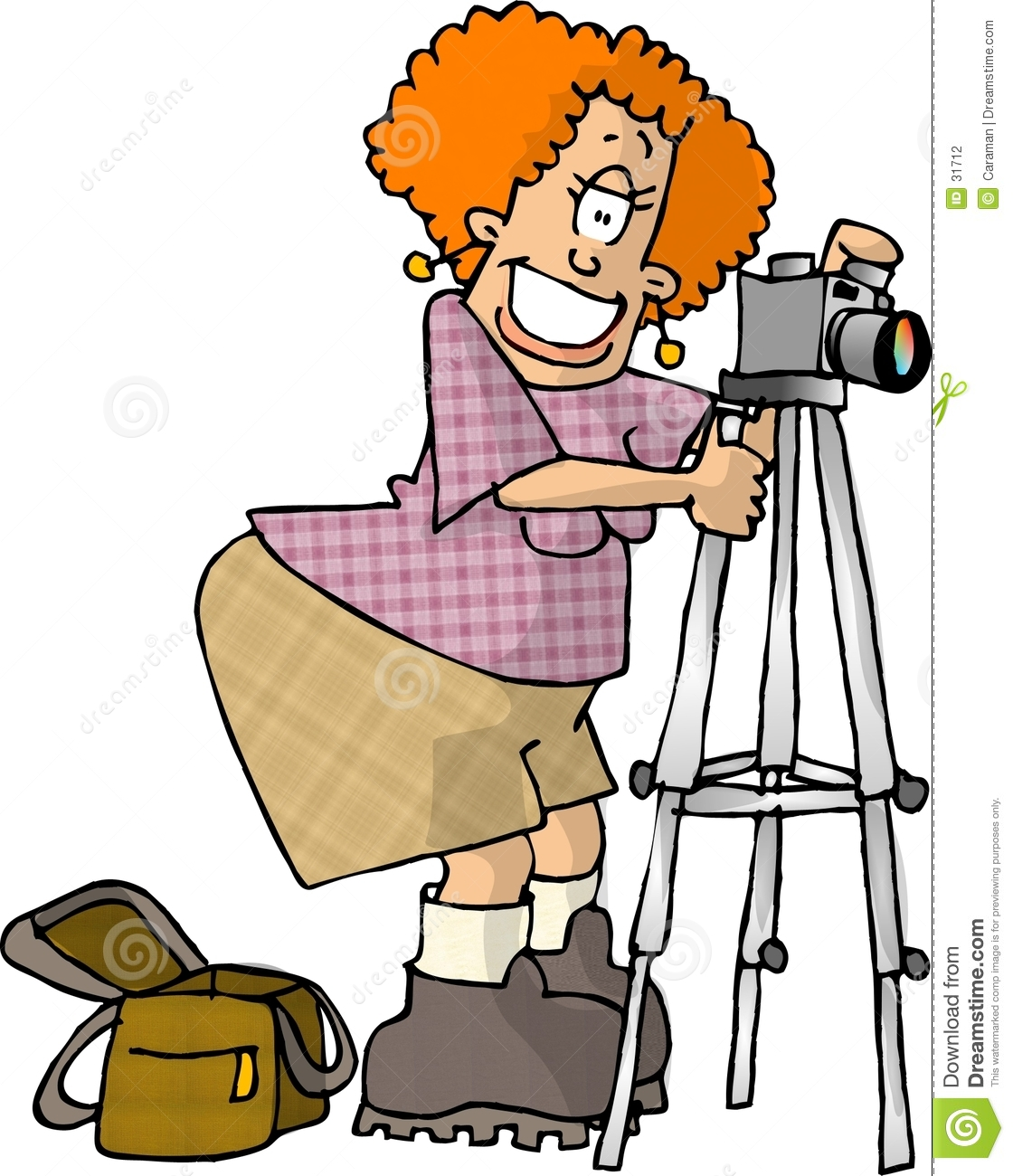This illustration that I created depicts a female photographer with ...