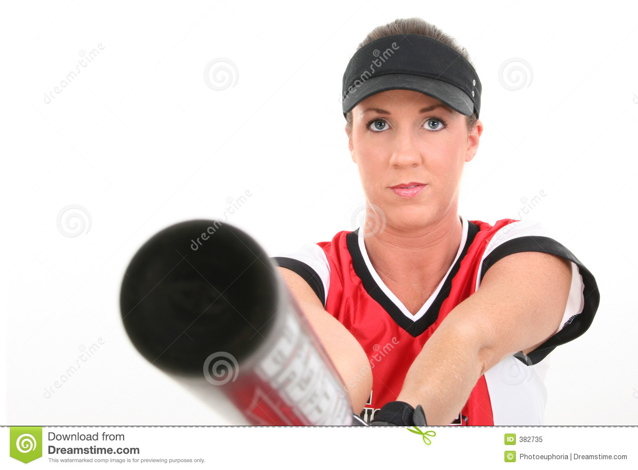Female player softball
