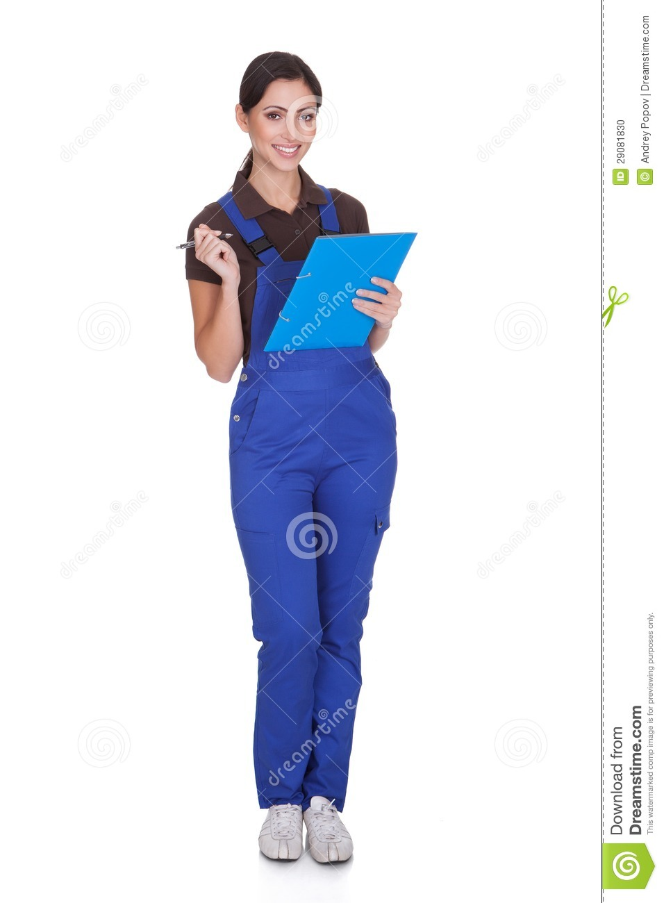 female plumber with clipboard stock photo image 29081830