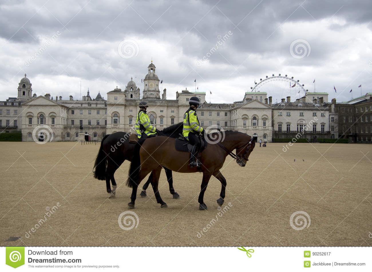 Female Police Riding Horse In London England Editorial Photography Image Of Security Horse 90252617