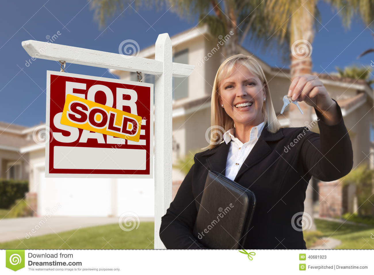 Real estate agent handing over house keys royalty free for Modern house estate agents