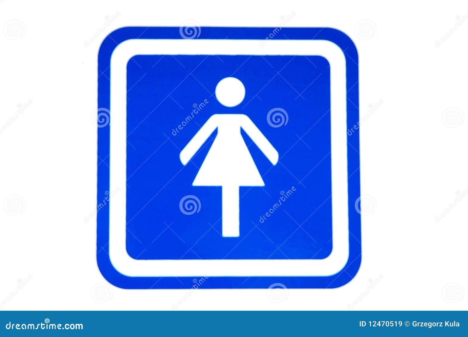 female restroom sign stock image image of gender toilet 12470519