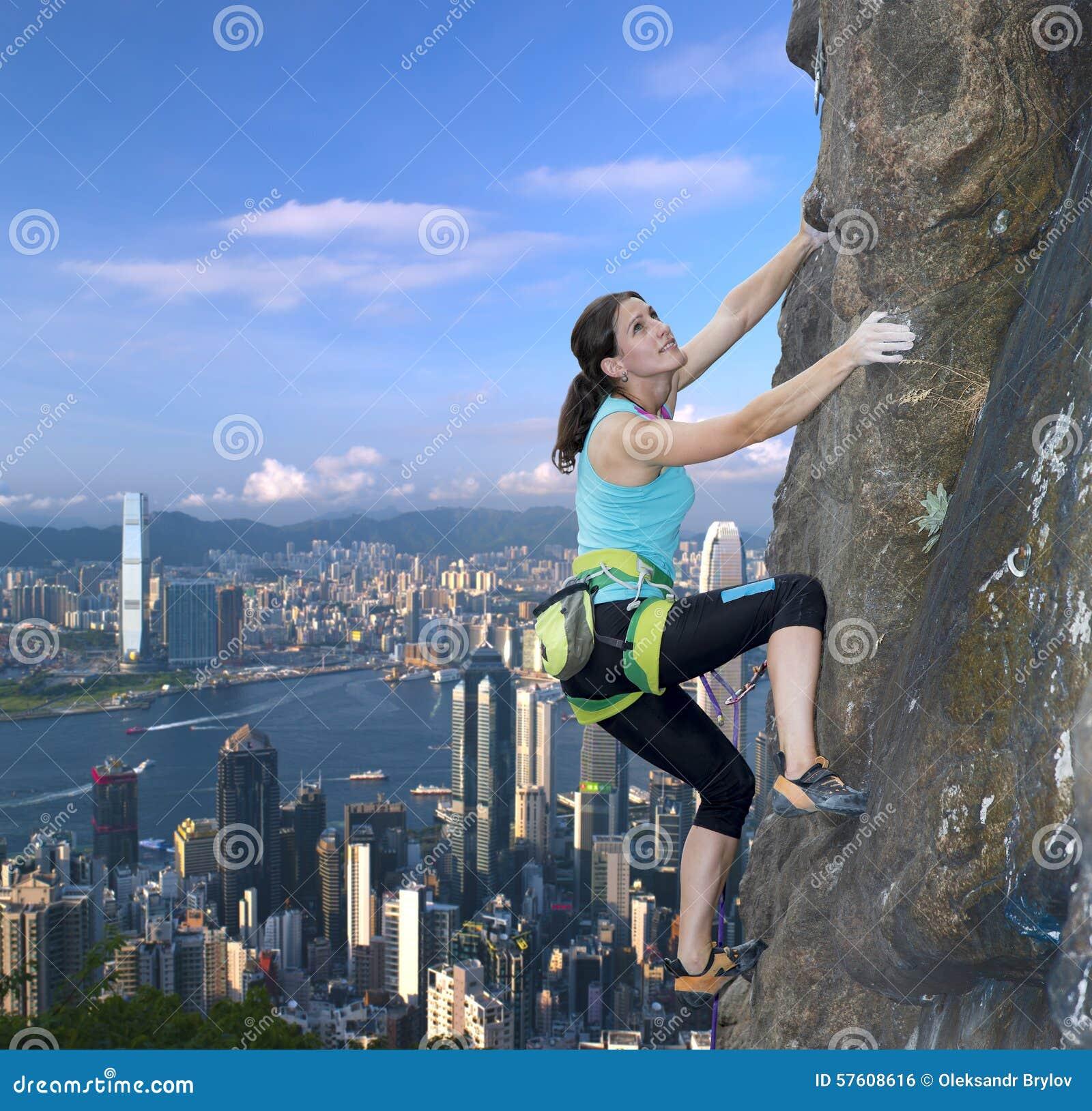 female extreme climber and - photo #10