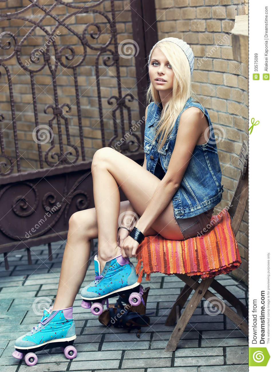 Female roller skater stock image. Image of people, female ...