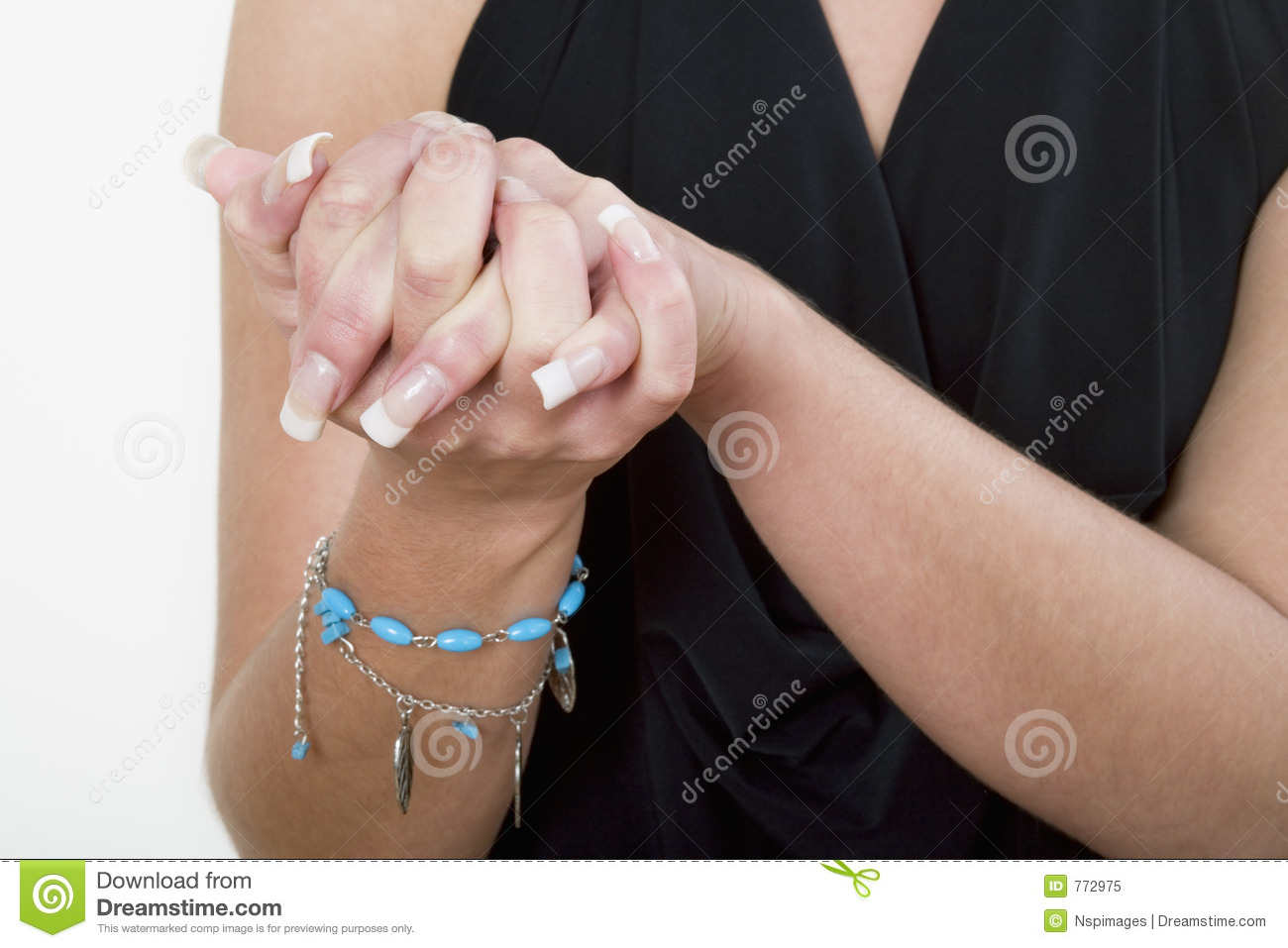 Female s hands together