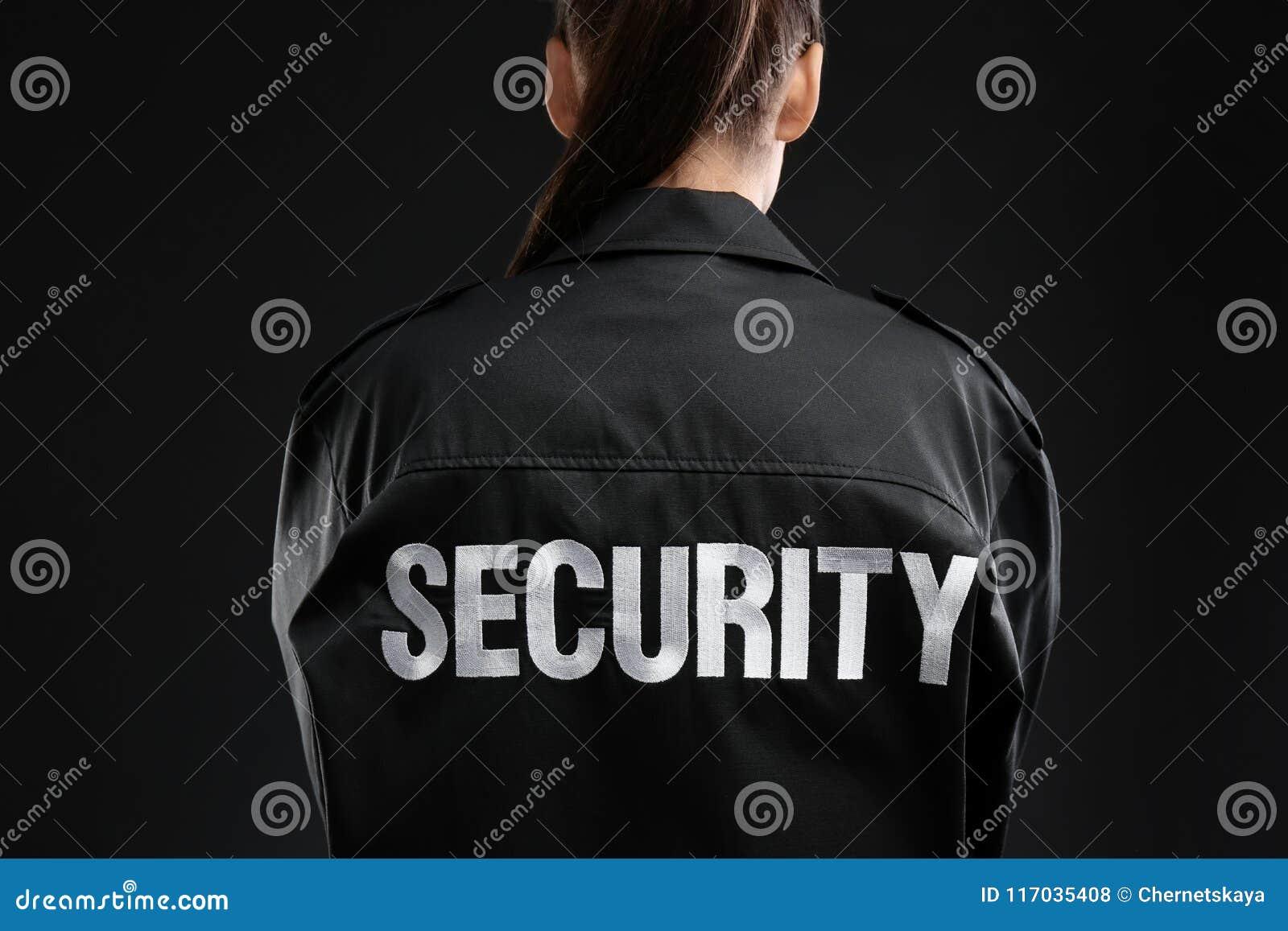Female security guard in uniform
