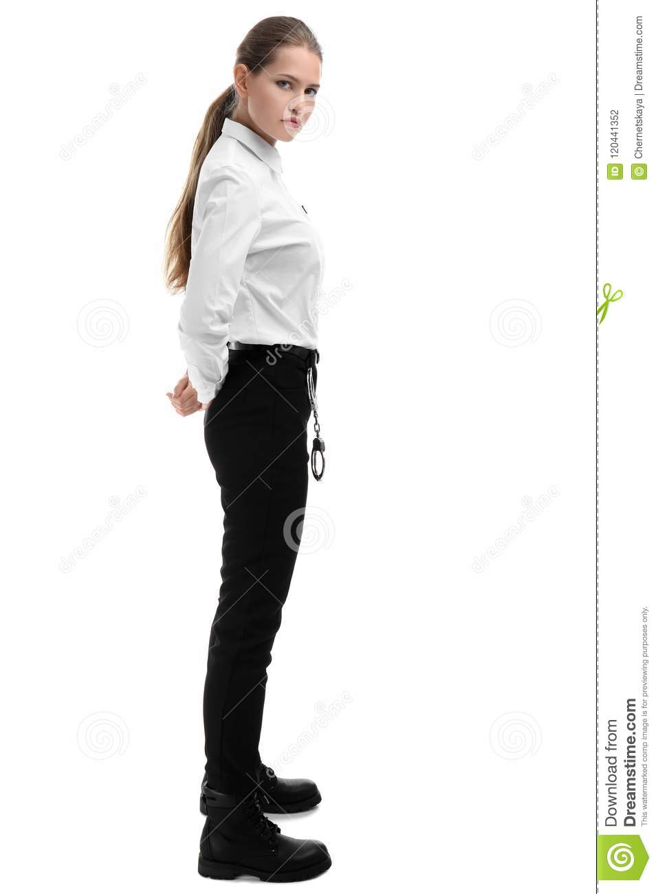 Female Security Guard In Uniform Stock Photo - Image of