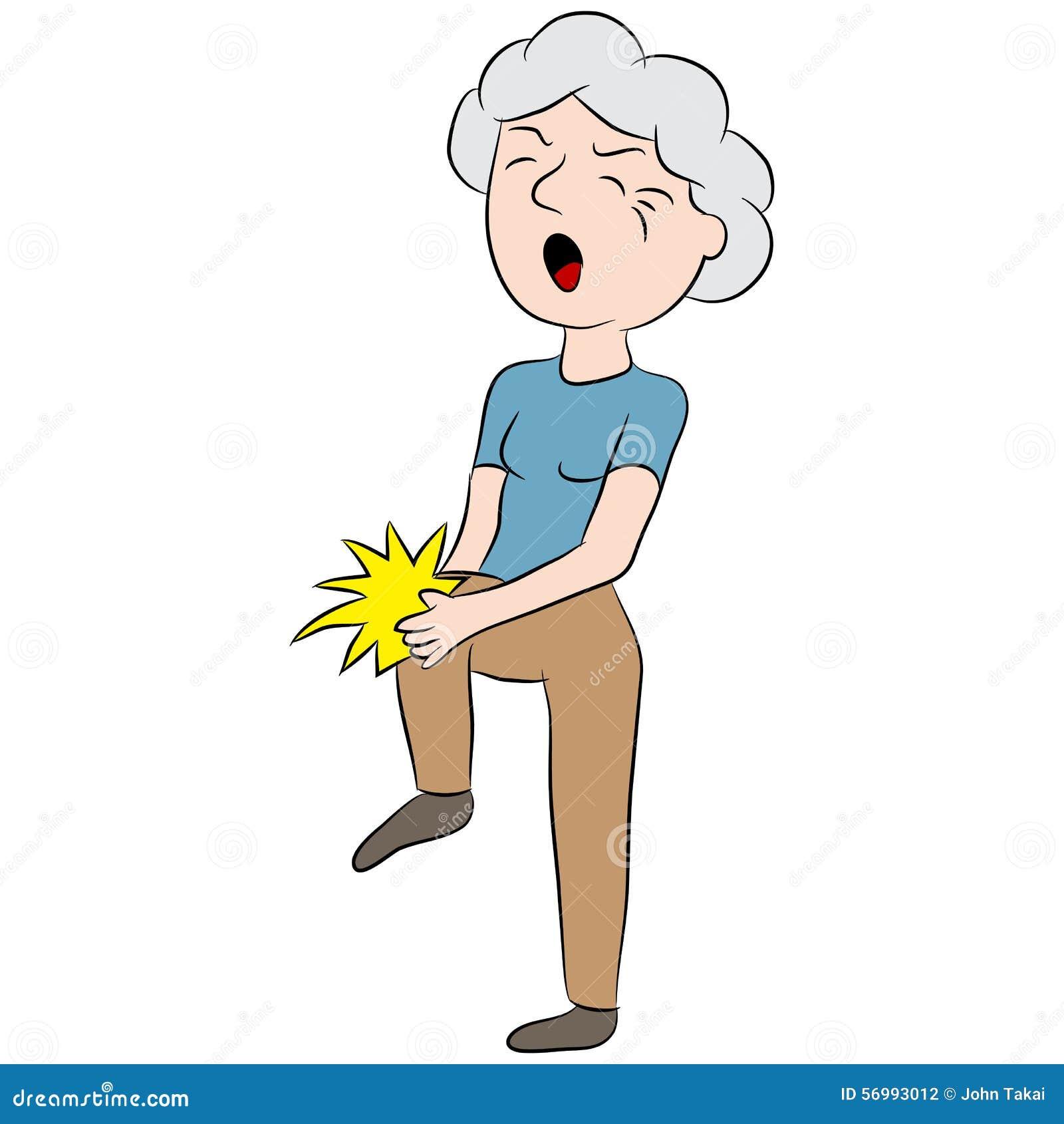 Female Senior Citizen With Knee Pain Stock Vector - Image: 56993012