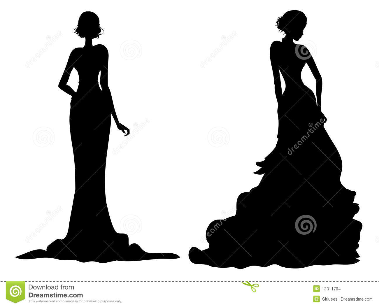 Female silhouette stock images image 12311704