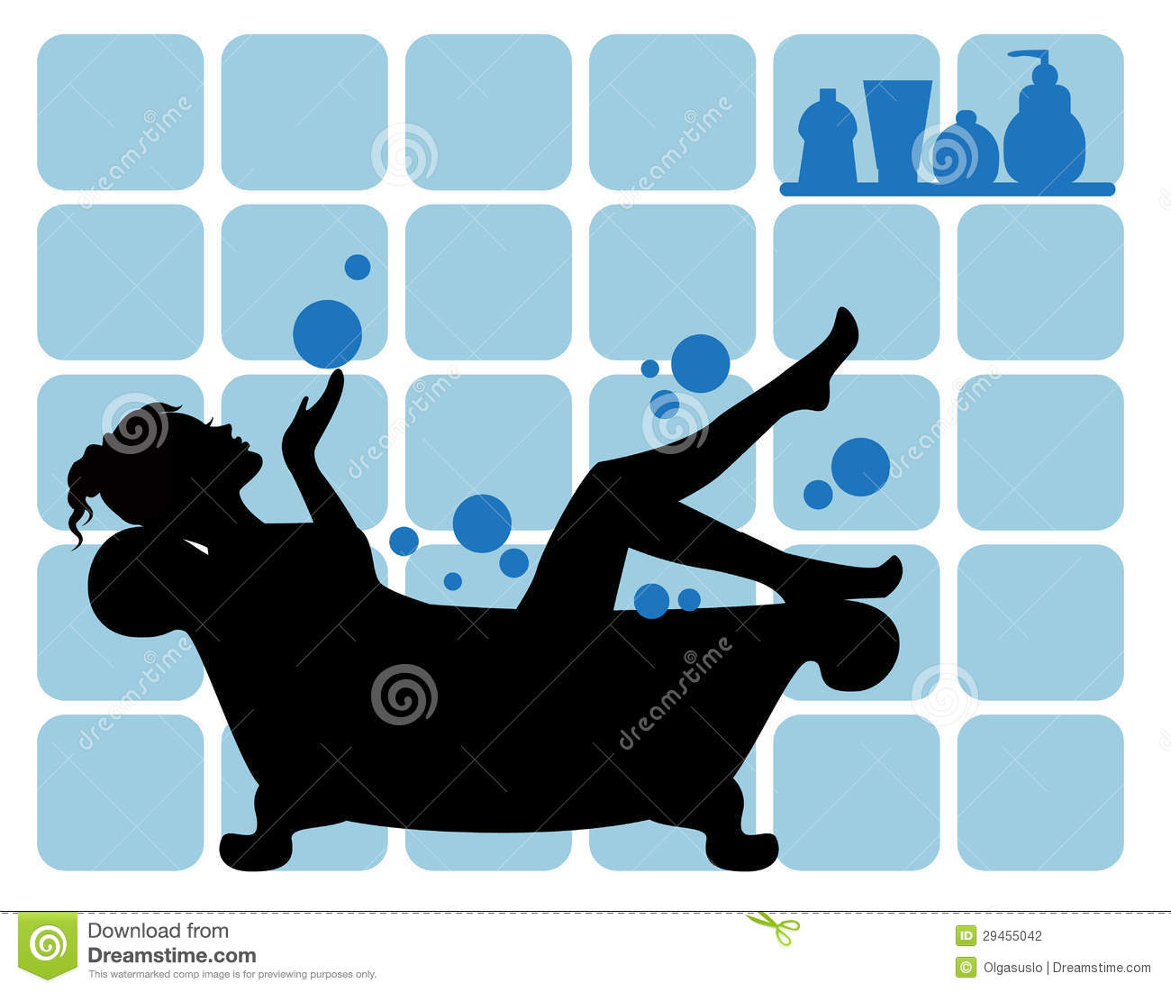 female silhouette in the bathroom stock photography image 29455042. Black Bedroom Furniture Sets. Home Design Ideas