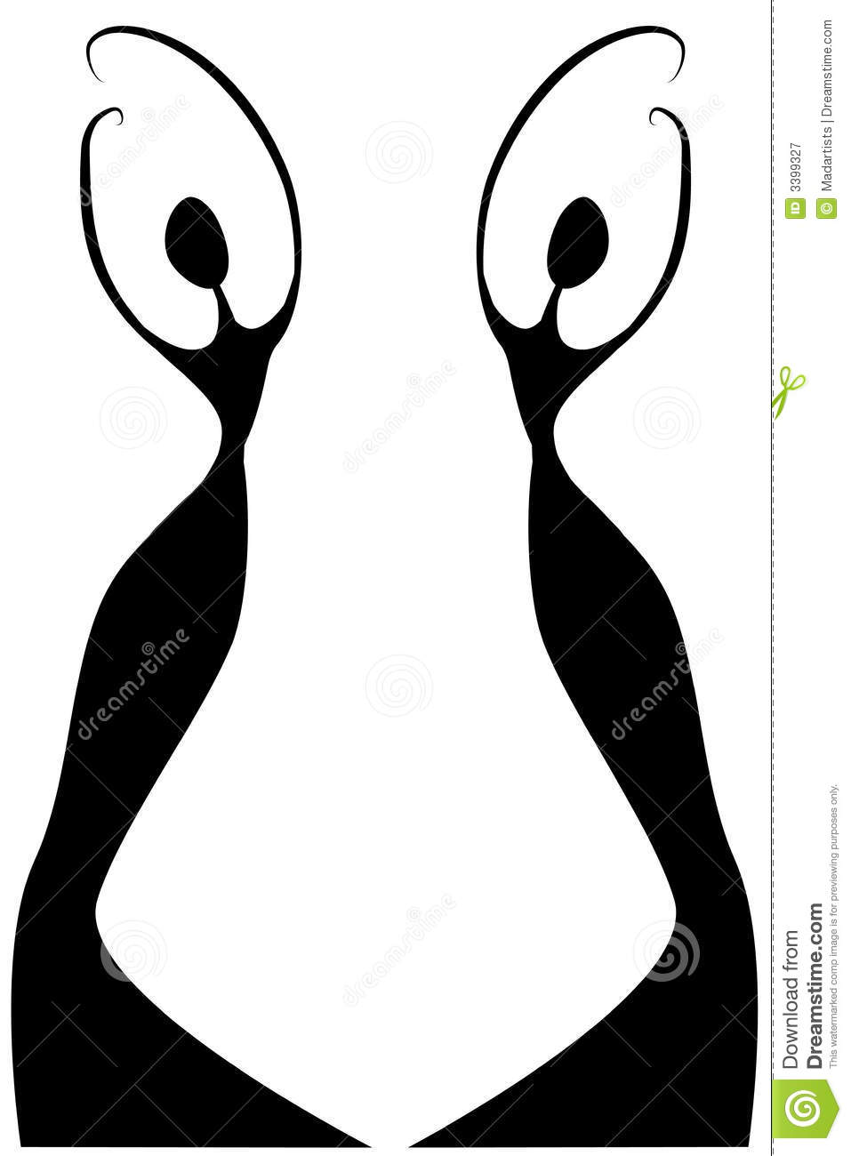 Female Silhouette Outlines