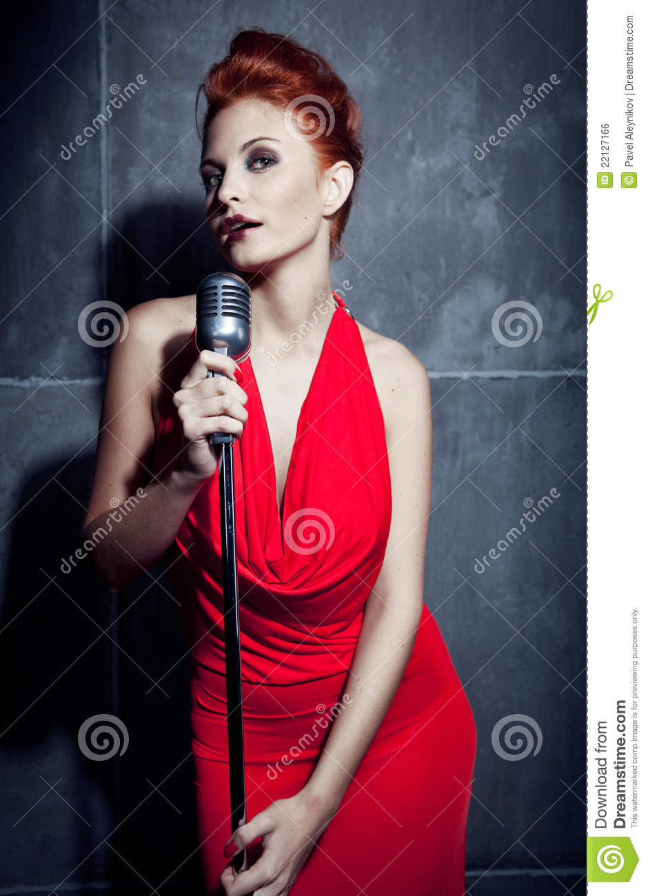 Red hair singer female