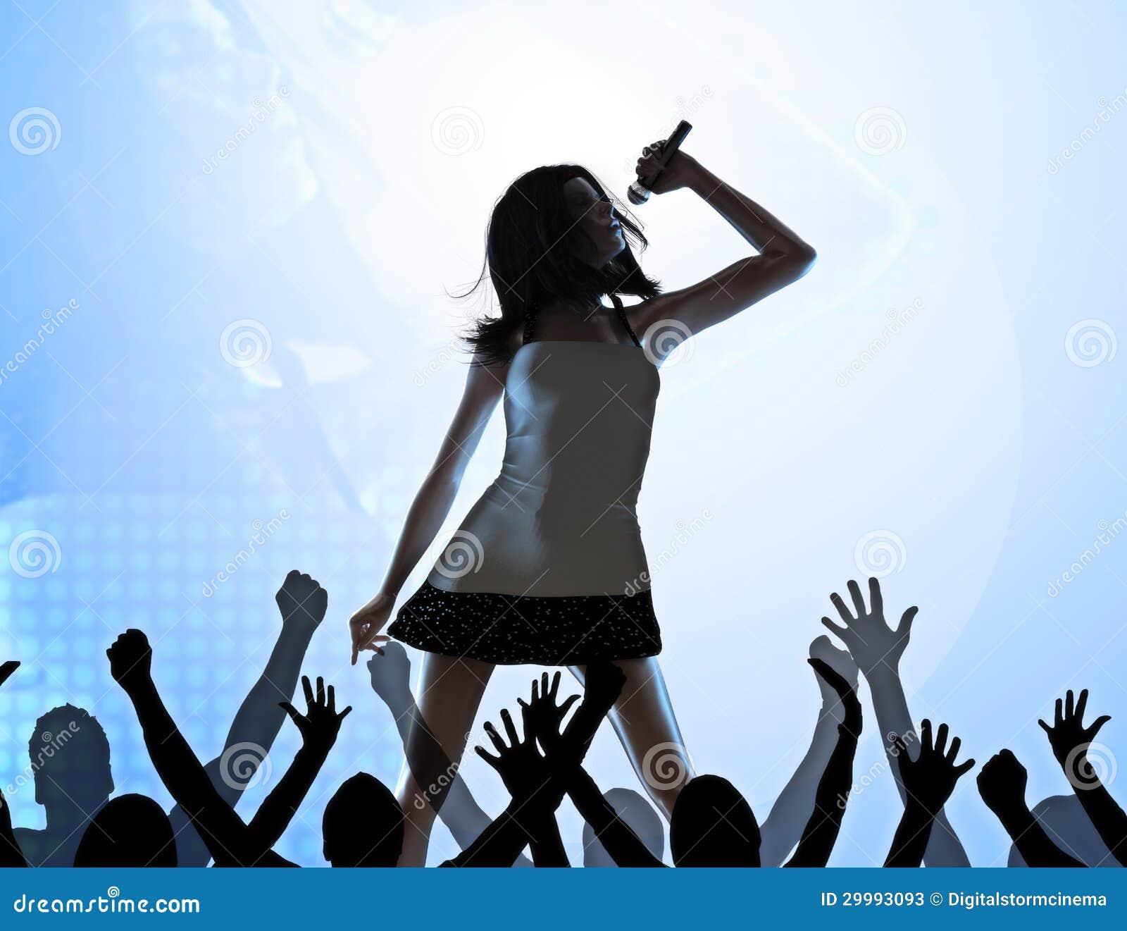 Female Singer On Stage Stock Photos - Image: 29993093