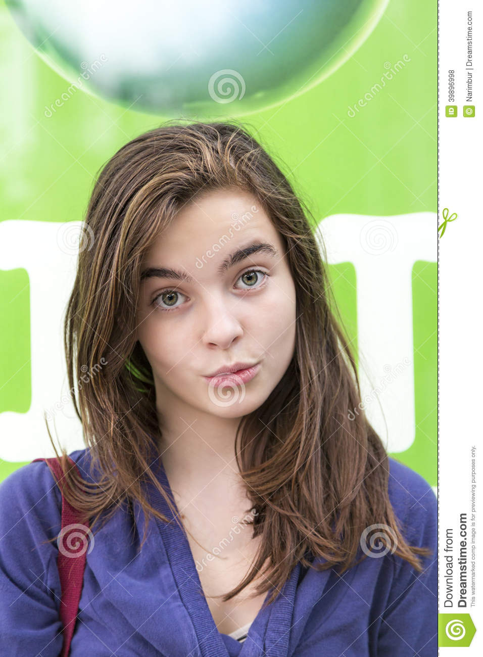 Female Smirking Teenager Stock Photo. Image Of Beautiful