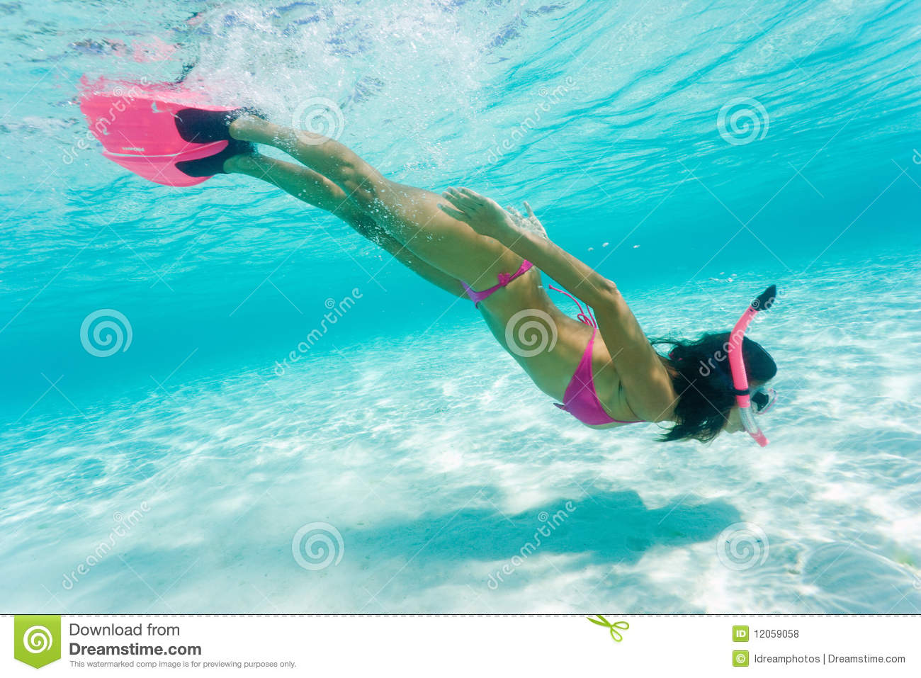 Royalty Free Stock Photos Female Snorkeling Image12059058 on diving snorkling