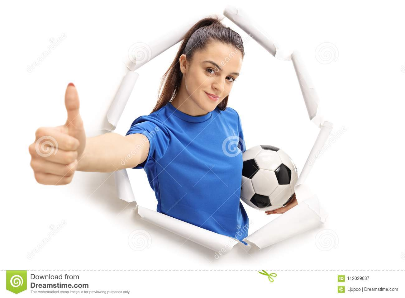 Soccer Ball Make Paper Isolated On Stock Illustration 102504509 | 957x1300