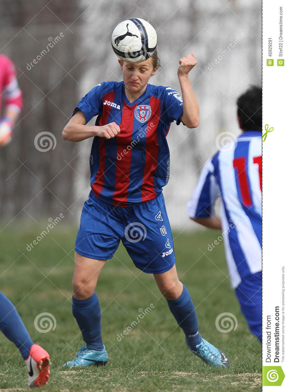 Female soccer player editorial photo. Image of dribbling ...