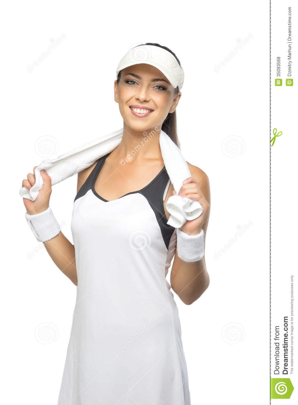 Female tennis player outfit