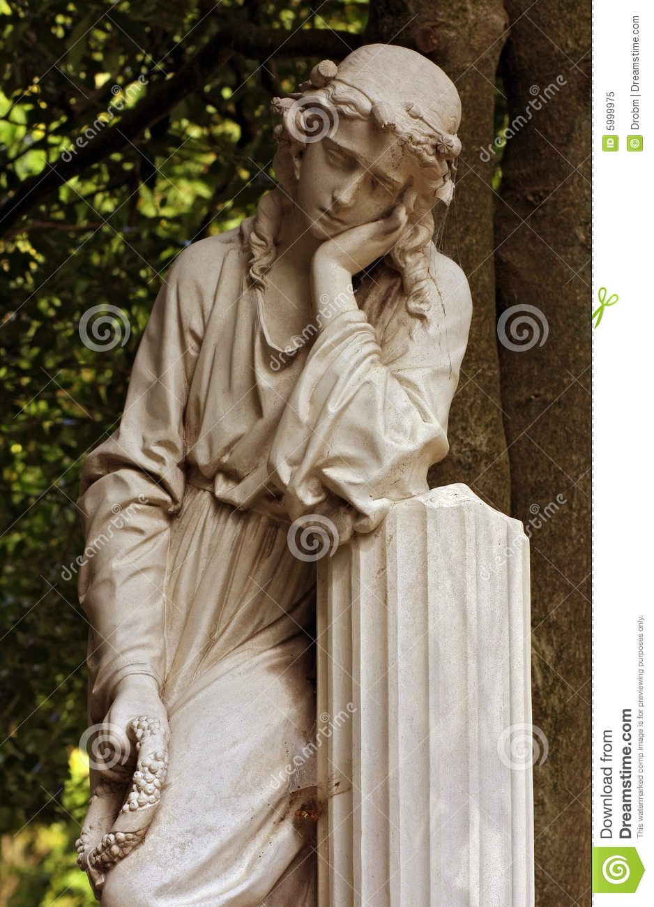 Female Statue Stock Image Image Of Gardening Sculptor