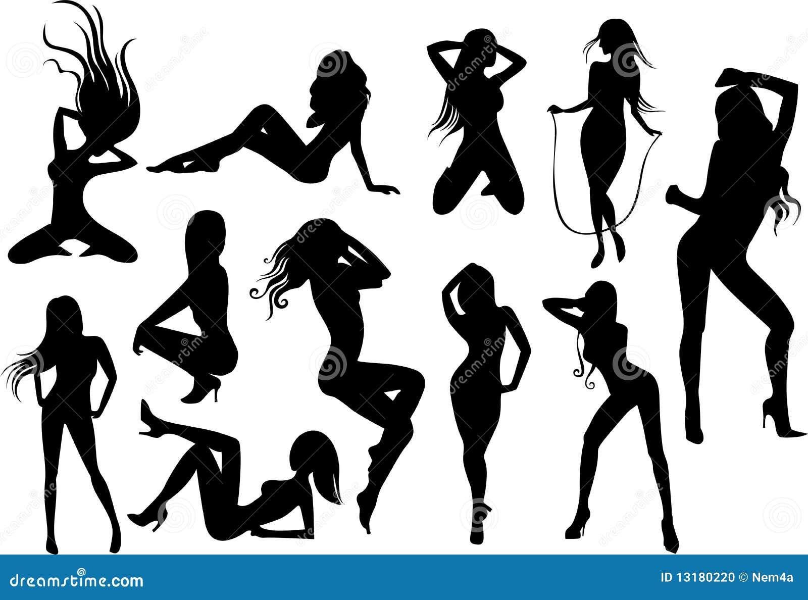 Силуэты голых девушек 9 фотография