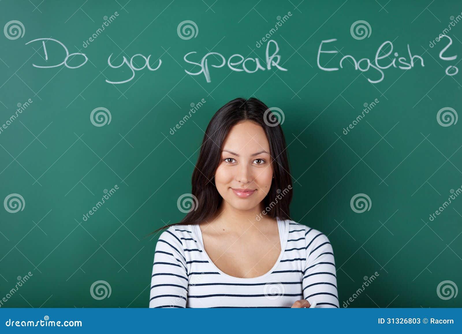 Classroom Based Web Design Course ~ Female student learning english stock photos image