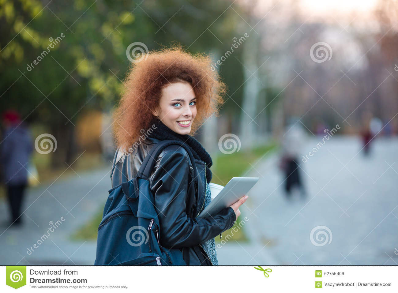 b8e282f6608 Female Student Looking Back At Camera Stock Image - Image of beauty ...