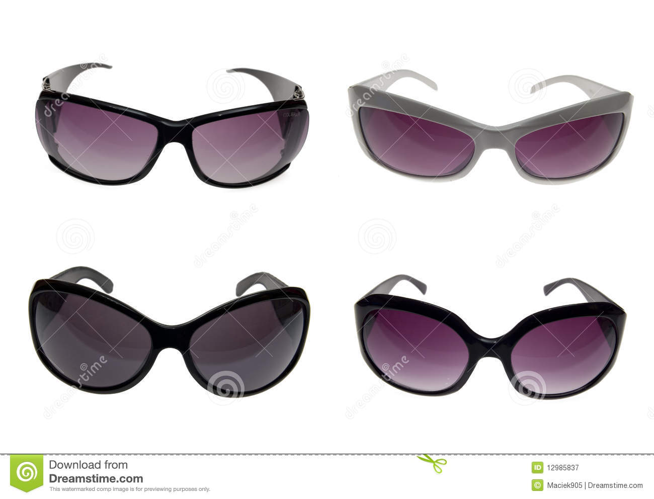 Female sunglasses with clipping patch