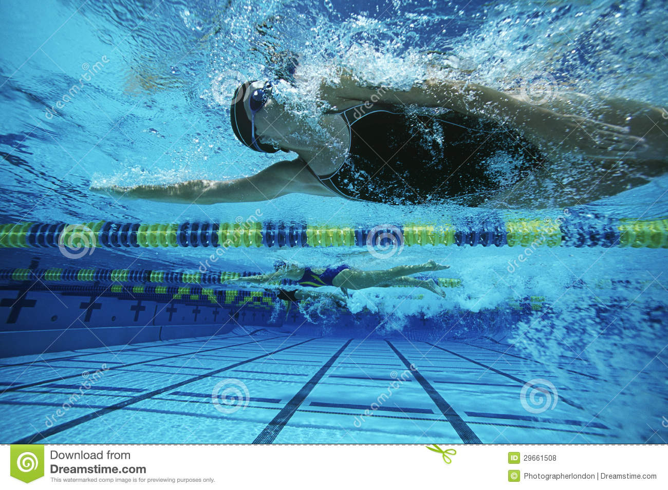 Female Swimmers Swimming Royalty Free Stock Photos - Image: 29661508