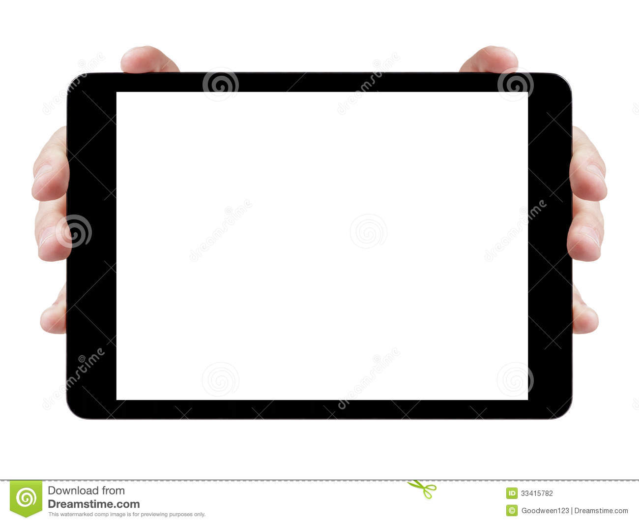 Female Teen Hands Showing Generic Tablet Stock Photo