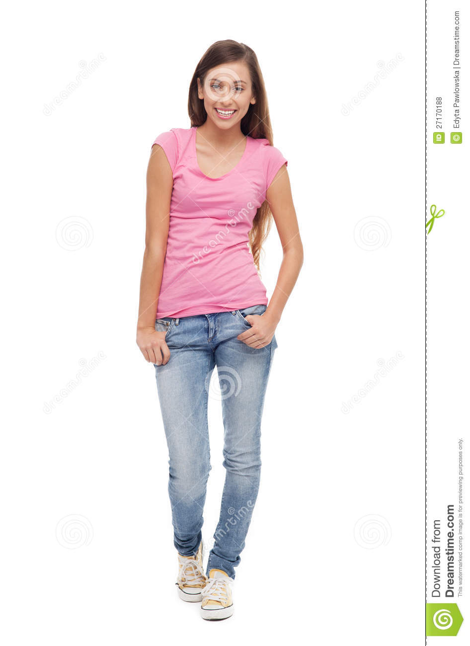 Female Teenager Standing Royalty Free Stock Photos - Image: 27170188