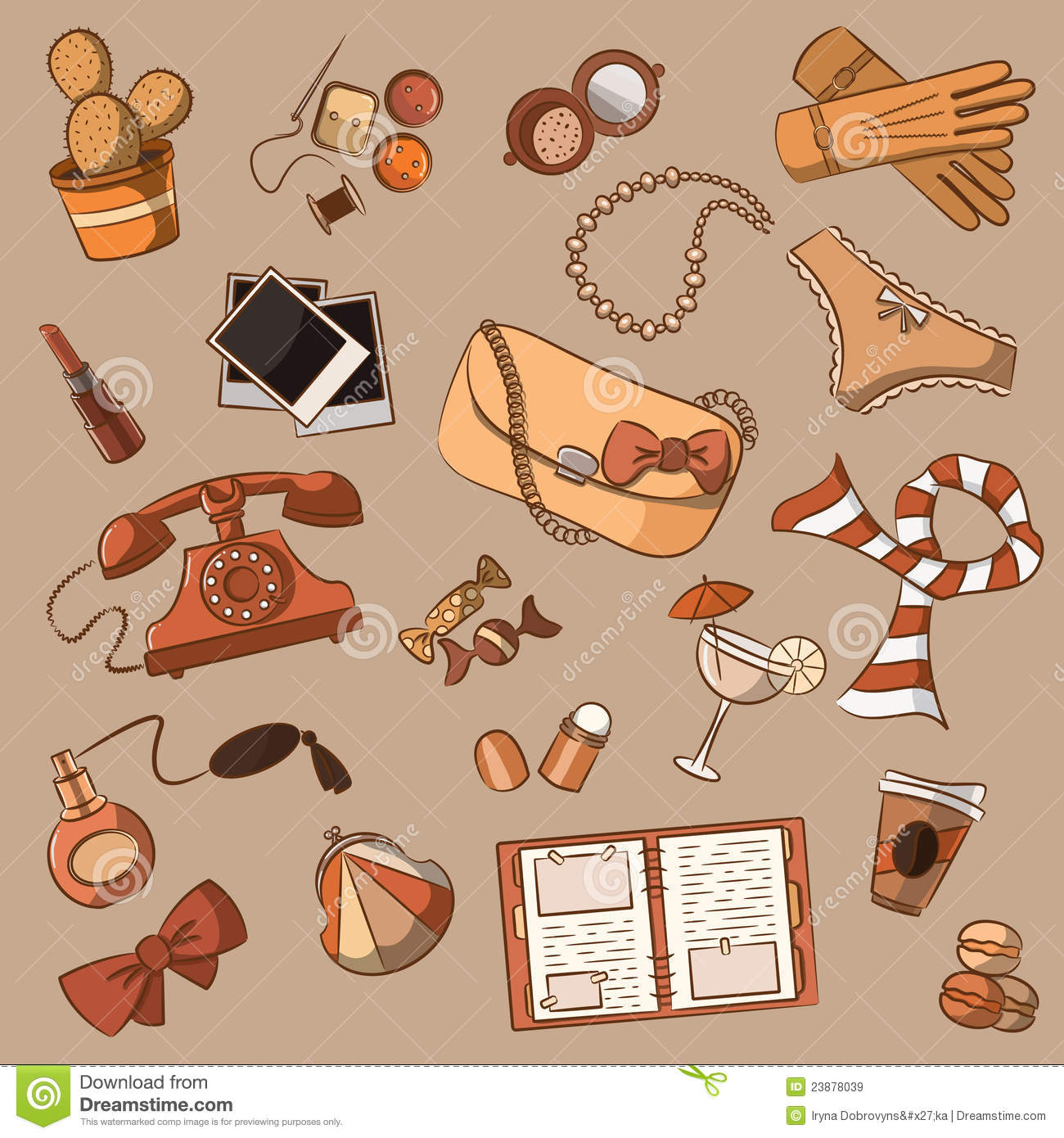 Royalty Free Stock Photo. Download Female Things Vintage ...