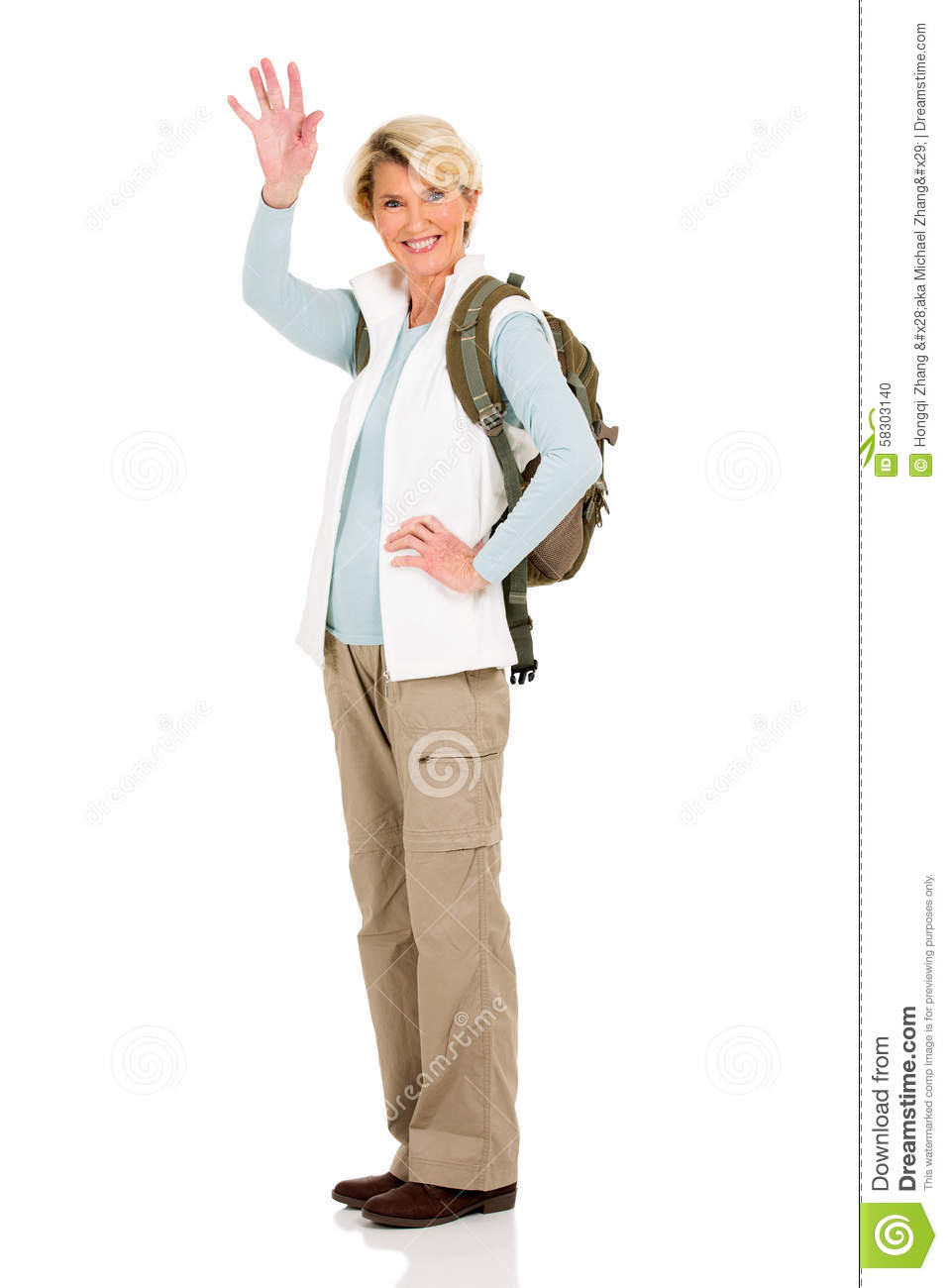 Old Woman Waving Goodbye From Car