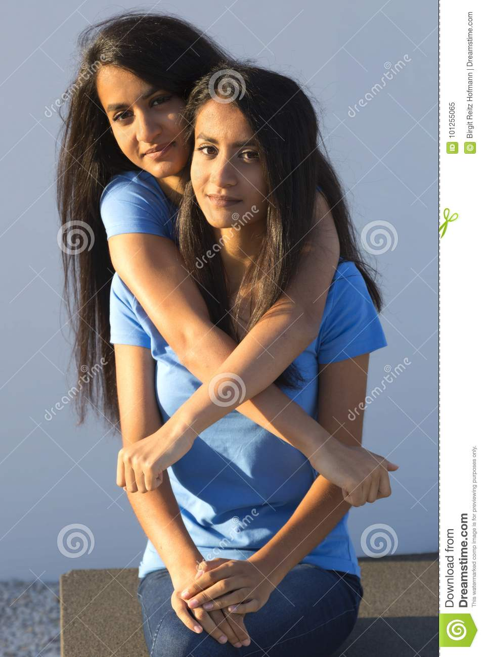Female Twins Embrace Each Other Stock Image Image Of Women Love