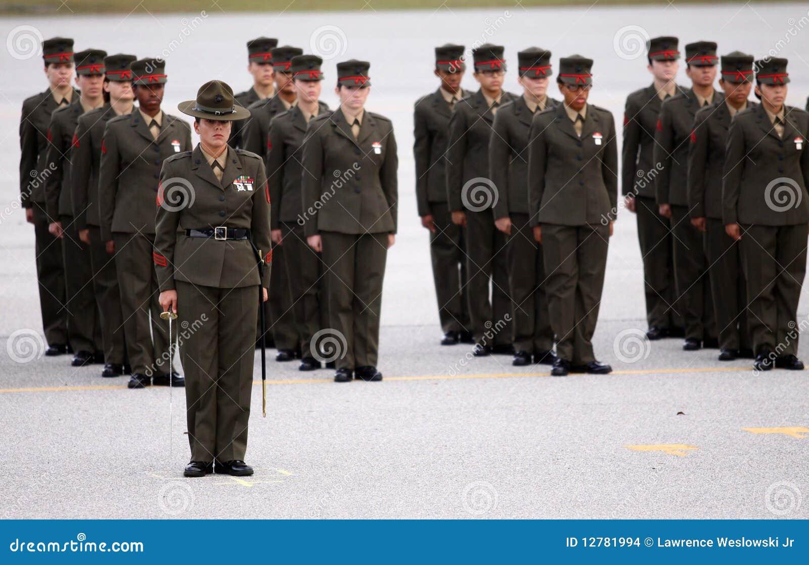 female united states marine corps graduates editorial stock image