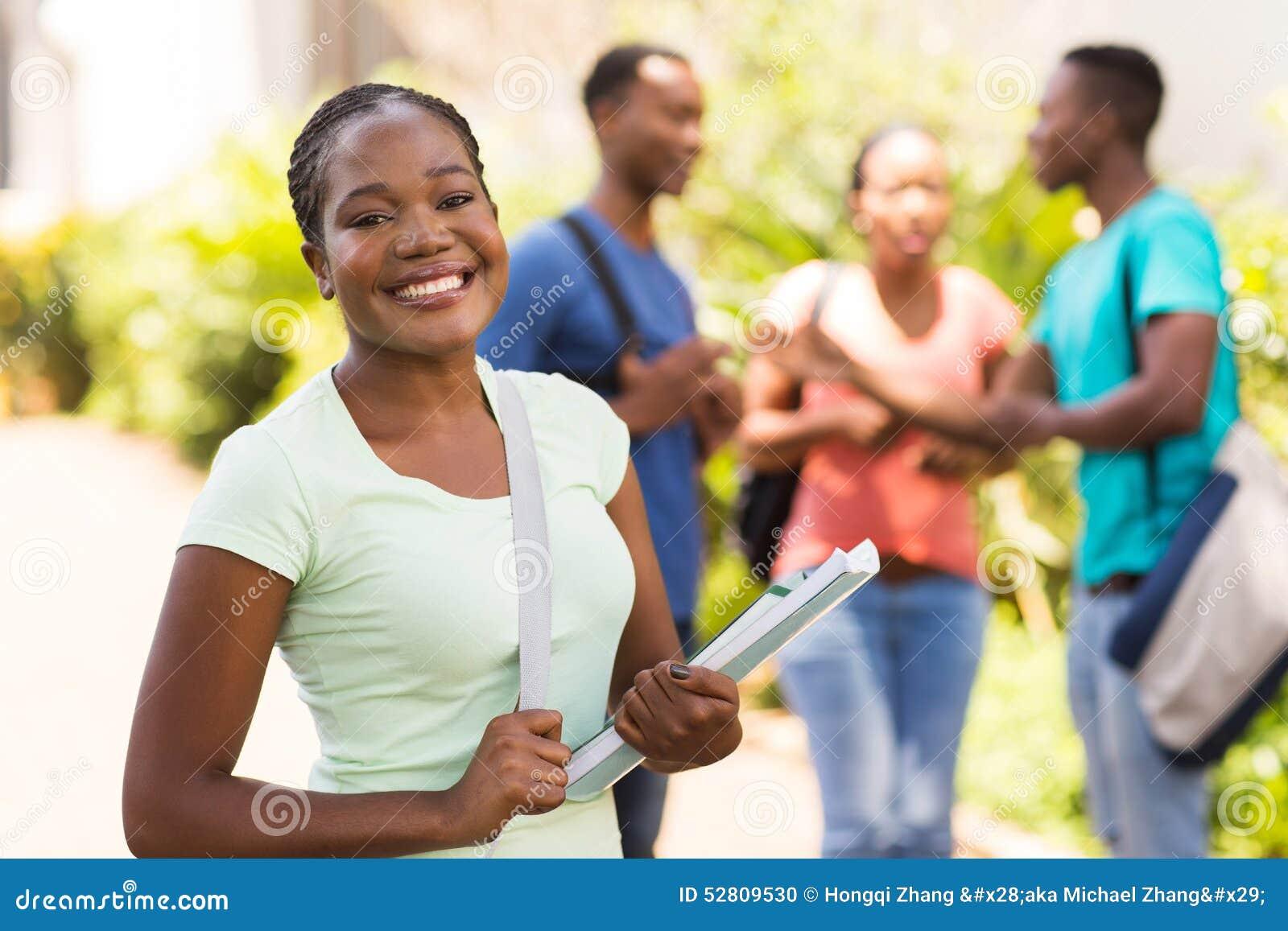 Download Female University Student Campus Stock Photo - Image of lifestyle, ethnicity: 52809530