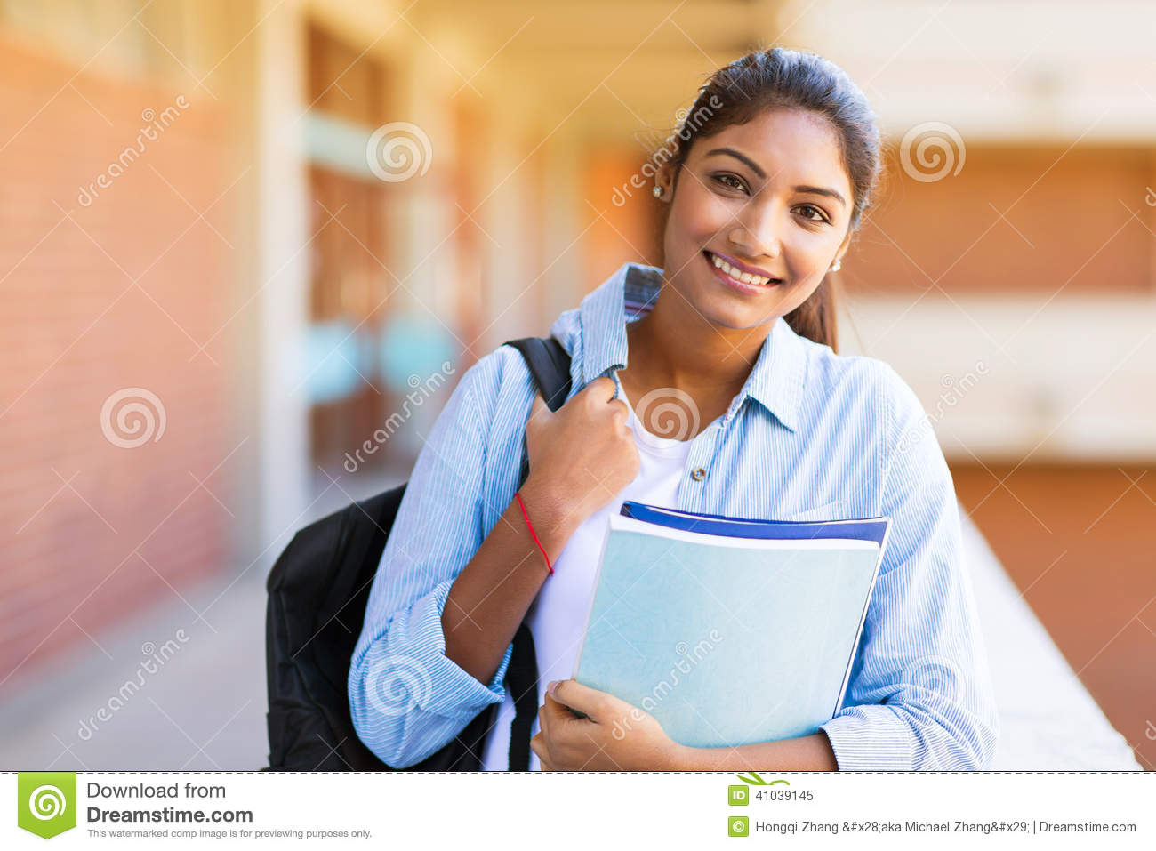Download Female university student stock image. Image of campus - 41039145