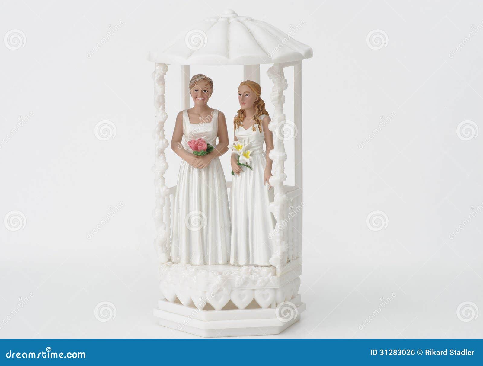 Female Wedding Couple Topper Stock Photo