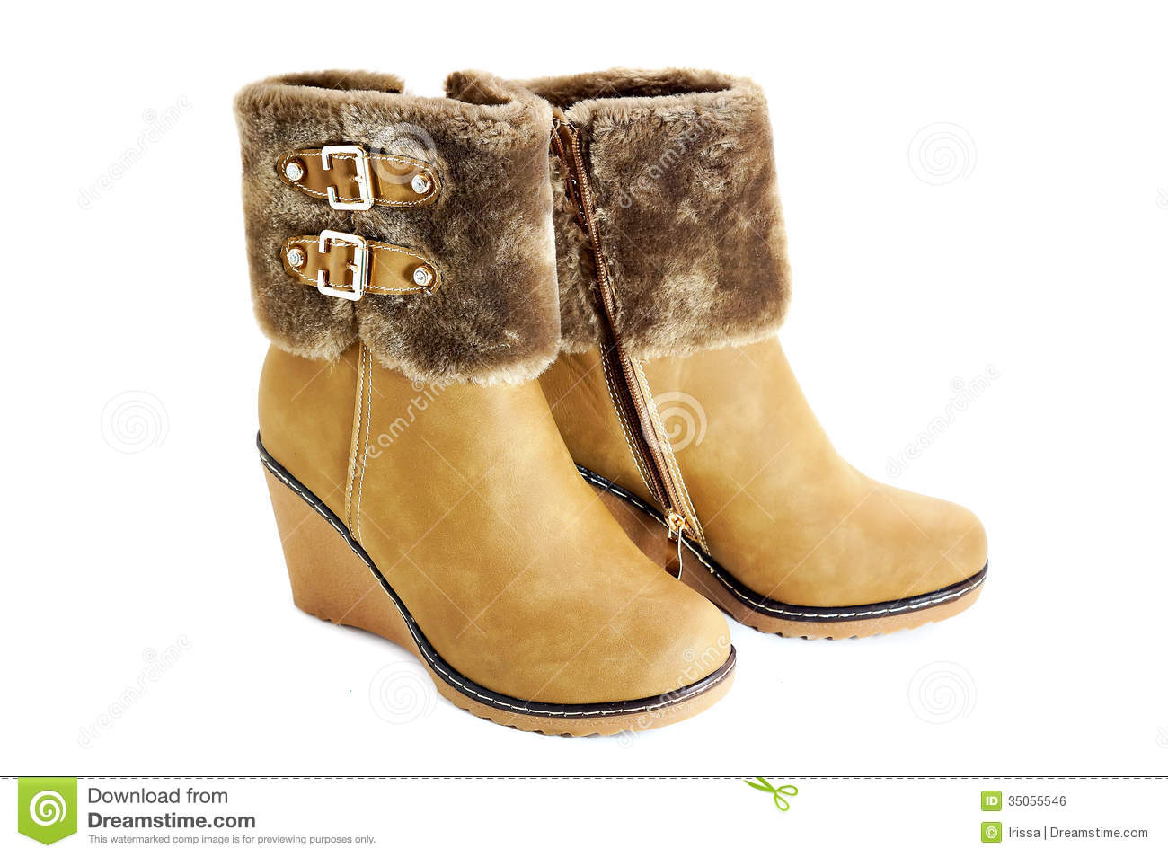 Female Winter Boots Stock Photo Image Of Buckle Fashion