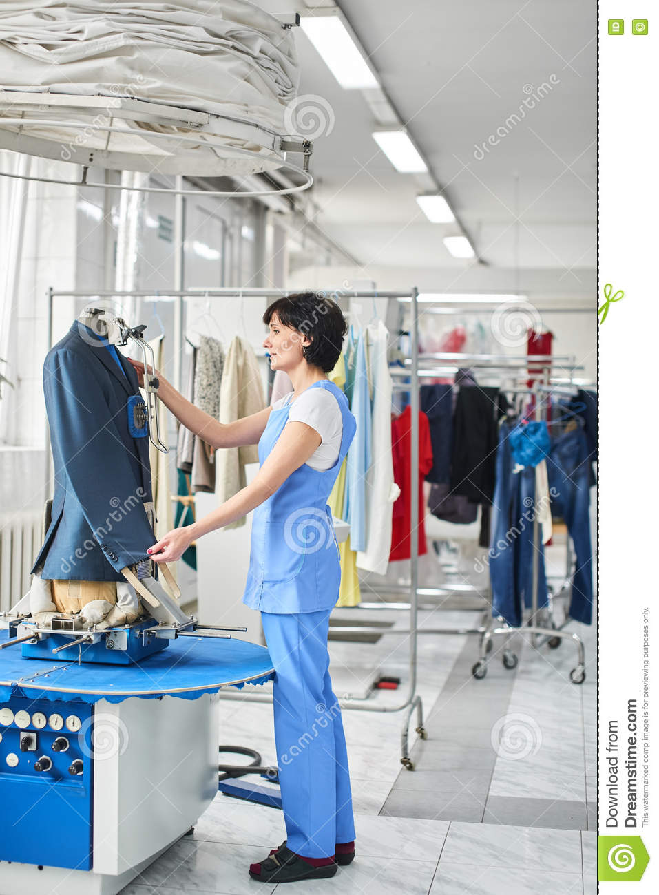 Dry Cleaning Laundry Line Icons Launderette Service