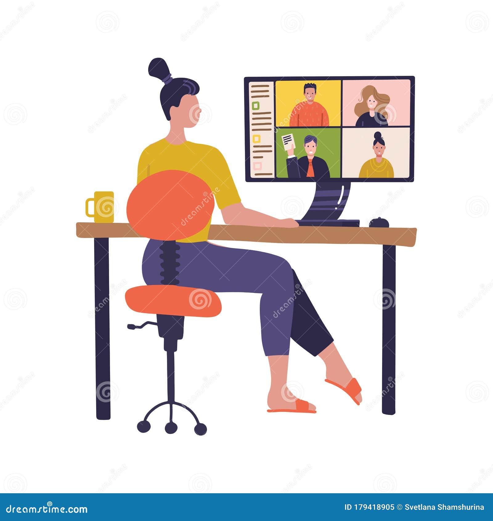 Virtual Meeting Stock Illustrations 10 100 Virtual Meeting Stock Illustrations Vectors Clipart Dreamstime