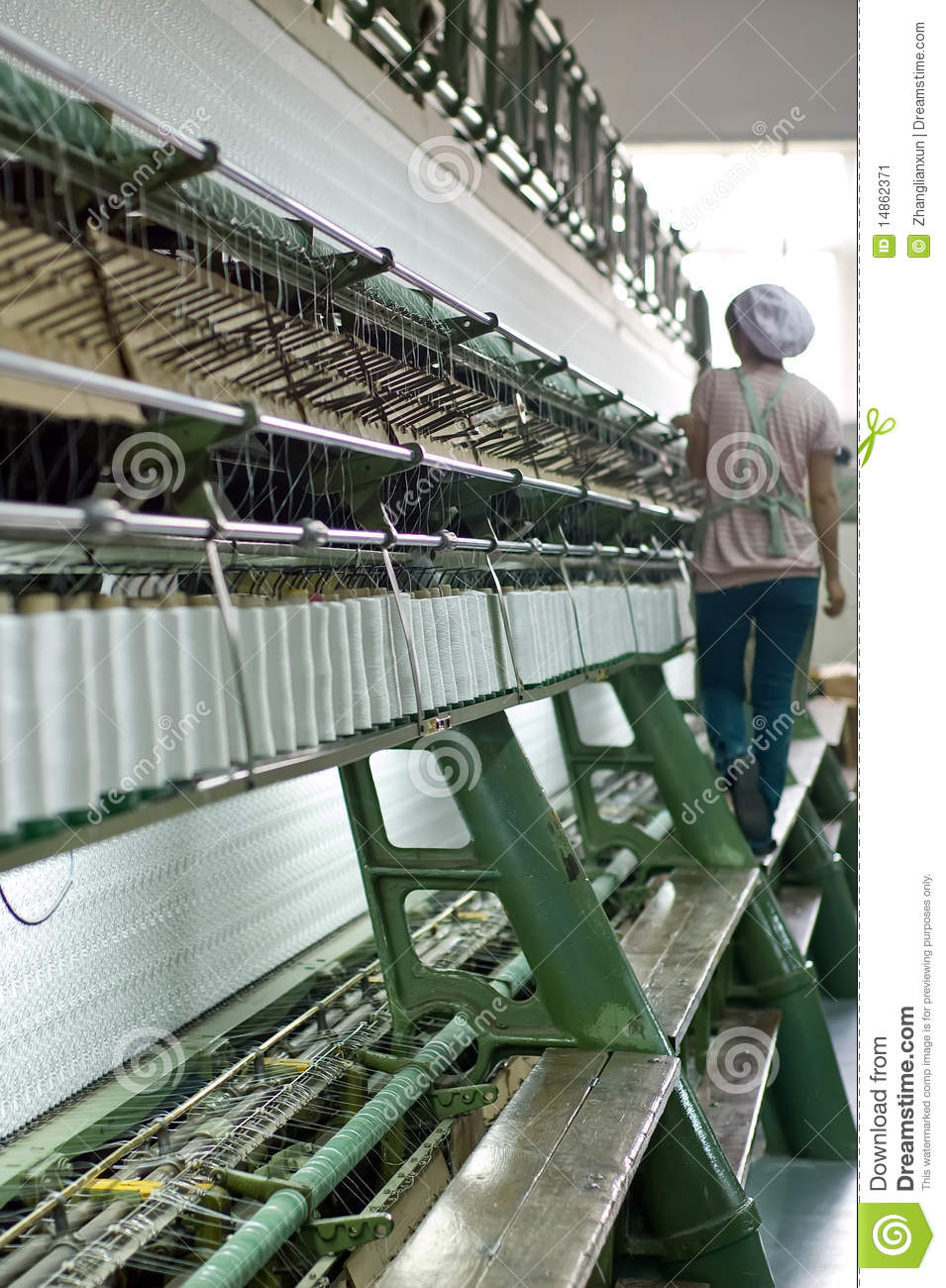 A female worker working in Textile workshop