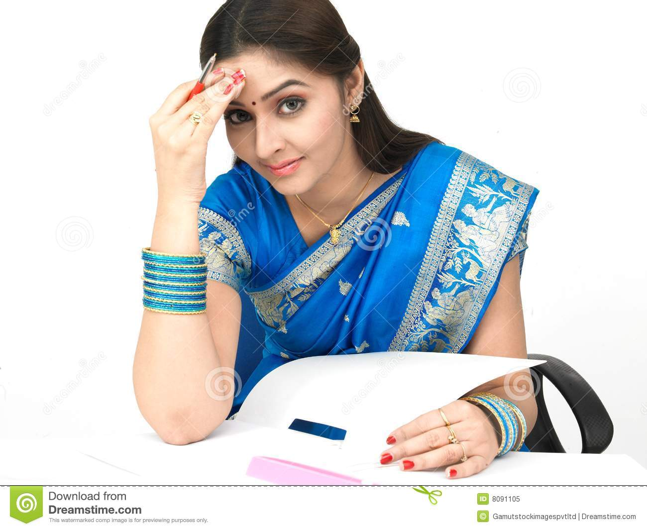 Female With A Worried Expression Royalty Free Stock Photo ...
