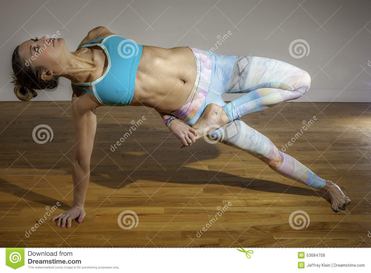 Female Yoga Model Vasisthasana Variation Side Plank ...