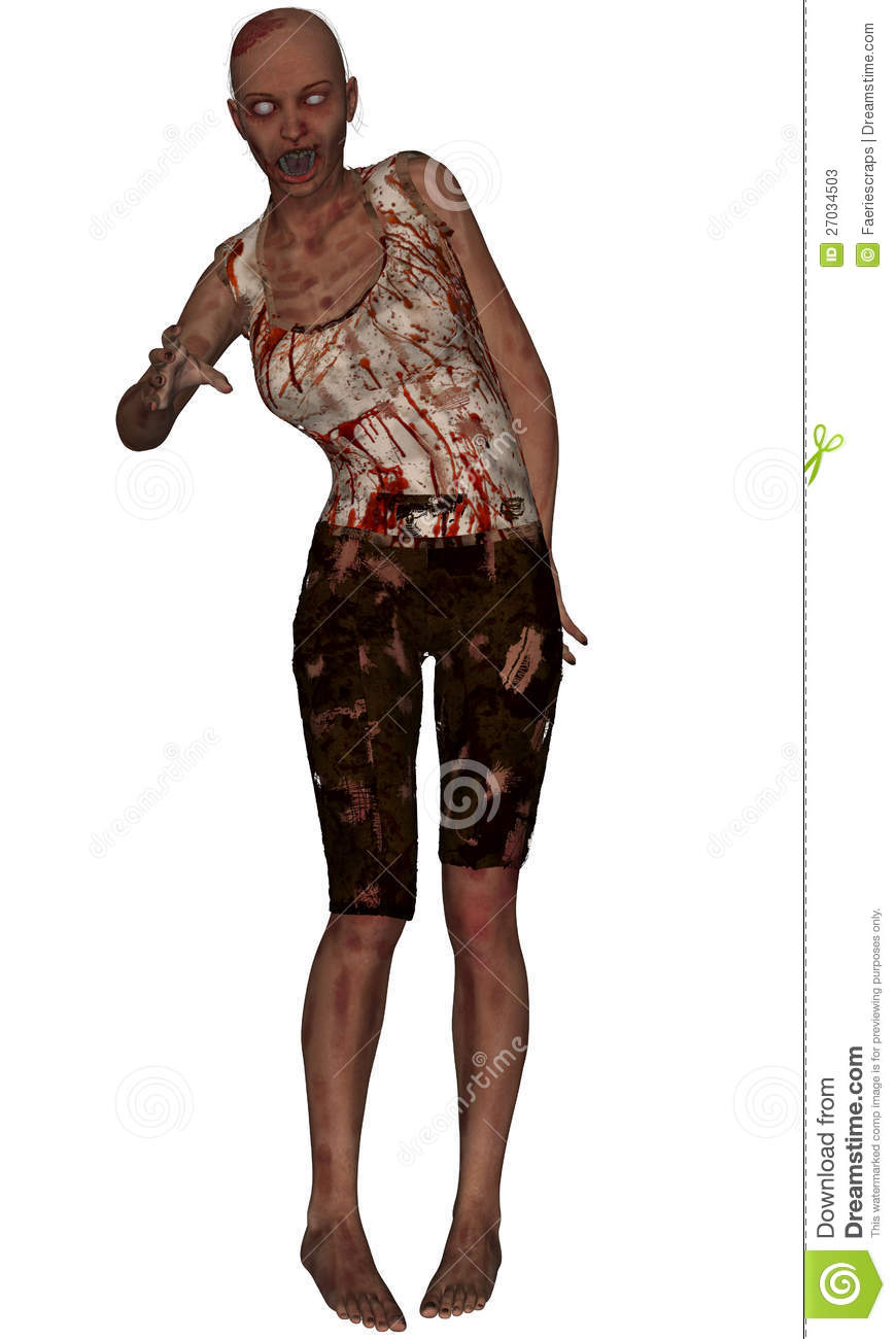 female zombie standing stock photos image 27034503