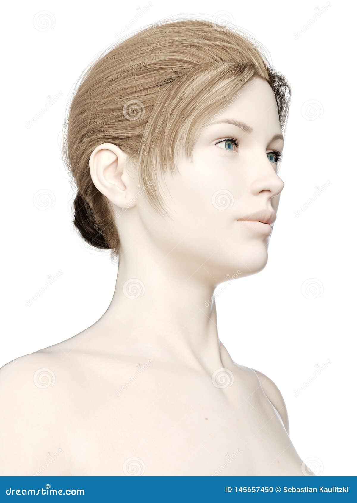 a females head